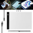 LED Tracing Light Board Art Tattoo A4 Drawing Pad Touch Switch Light Box 3 MODES