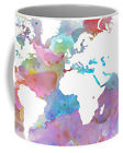 Coffee Mug Cup 11oz 15oz Made USA Design 48 World Map continents L.Dumas
