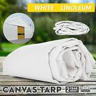 Multi-size Canvas Tarp White Linoleum Tarpaulin Extreme Campgrounds Grommets