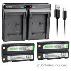 Kastar Battery Dual Charger for D-Li1 Ei-D-Li1 Trimble R6 Kyocera FINECAM S3R