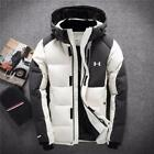 Hooded Jacket Under Down Men's Coat Snow Armour Winter Duck Warm Thick