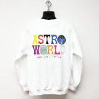 TRAVIS SCOTT ASTROWORLD SWEAT-SHIRT white tour off concert merch t hip hop hoody image