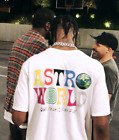 TRAVIS SCOTT ASTROWORLD T-SHIRT white tour concert merch off hip hop hoody hat image