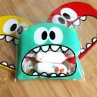 50Pcs Cookie Candy Gift Big Teeth Mouth Monster Plastic Bag Packaging Bags Sale