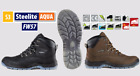 Safety Work Hiking Boots Waterproof Shoes Lightweight Steel Toe Cap Leather FW57