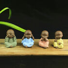 Ceramic Crafts Buddhism Sculptures Small Monks Figurine Buddha Statue Tea Pet