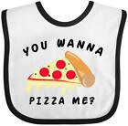 Inktastic You Wanna Pizza Me Baby Bib Food Humor Pun Red Gift Clothing Infant