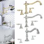 8'' Contemporary Kitchen Faucet + 2 Handle Lever Kitchen Bathroom Water Tap MX