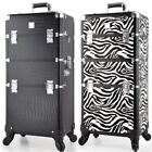 Professional Large Cosmetic Case Dual Use Make Up Box Beauty Aluminum Frame Case