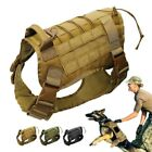 Police-K9 Tactical Training Dog Harness Military Adjustable Molle Nylon Vest New