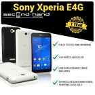 Sony Xperia E4G E2003 -8GB- Black/White -(UNLOCKED) Smartphone 1 Year Warranty
