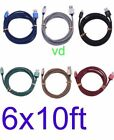 LOT OF 6X Braided USB Charger Cable Apple Lightning iPhone7 5/6/6s//8/iPad Mini