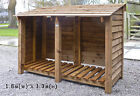 Wood Log Stores. Pressure treated, fully assembled. Specialists in custom sizes