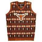 Aztec Ugly Sweater Vest Klew Ribbed Cuff Waist Warm Comfortable