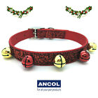 Ancol Christmas Red Glitter Dog Collar Yellow & Red Jingle Bells 2 Sizes