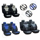 13pcs Universal Car Seat Covers W/HeadRest/steering wheel cover/Belt Pad Durable $26.24 USD on eBay