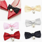 2pcs Fashion Women Pearls Bowknot Bow Shoe Clips Buckle Removable High Heel