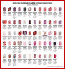 jamberry half sheets ❤️ red pink spring hearts ❤️ buy 3 & 1 FREE fast ship!! ❤️ $6.45 USD on eBay