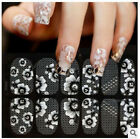 Lots White lace Pretty Manicure Rectangle 3D Nail Art Stamping Template Plates A $0.99 USD on eBay