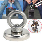 Us 14-112kg Neodymium Ring River Fishing Salvage Tool Recovery Magnet Detecting
