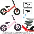 'Childrens Kids Balance Bike Metal Boys Girls Running Walking Training Bicycle