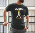 Queen T-Shirt Freddie Mercury Shirt Bohemian Rhapsody Tee Rock Short Sleeve Art