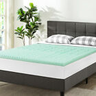 1.5 Inch 5-Zone Memory Foam Bed Topper Aloe Infused Cooling Mattress Pad Dorm  image