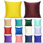 "Cushion Cover Solid Color Sofa Pillow Case Cushion Square Home Decor Soft 18x18"" image"