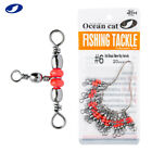 OCEAN CAT 20-100 Pcs Red Brass Three Way Swivel Connector 3 Way T-Turn Tackle