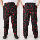 Professional Traditional Unisex Baggy Chef Pants Kitchen Trousers Elastic Waist
