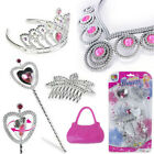Girls Jewellery Set New Baby Kids Princess Necklace/hair Clip/earings Xmas Gift