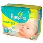 Pampers Swaddlers Diapers, Size P-1, P-2, P-3, Newborn 1 2 3 4 5 6 - ALL SIZES For Sale