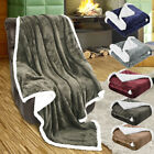 LANGRIA Reversible Winter Warm Flannel Throw Blanket Plush Blanket For Sofa Bed image