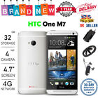 """Unlocked 4.7"""" Htc One M7 32gb 4g Lte Gsm Android Wifi Mobile Smart Phone Uk"""