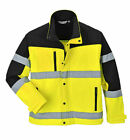 Portwest US429 Two Tone HiVis Yellow Reflective Softshell Safety Jacket 3L ANSI