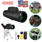 40X60 HD Zoom Portable Monocular Optical Lens Telescope+Tripod For Smartphone