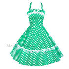 Maggie Tang 50s Pinup Retro VTG Polka Dots Housewife Rockabilly Swing Dress 503