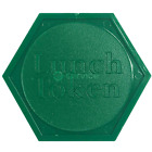 Hexagon Lunch Tokens Plastic Embossed Red Green Yellow Blue School Event Meal