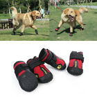 Внешний вид - 4pcs Pet Shoes Anti Skid Dog Boots Booties for Medium Large Dogs Paw Protection