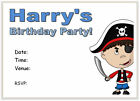 10 Personalised INVITATIONS & envs PIRATE pirates boys invites invite party i312