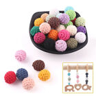 Tooth Nursing 16mm Wooden Crochet Teether Yarn Ball Baby Beads Non-toxic NEW