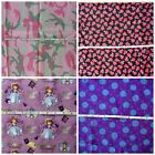 Camouflage Camo Pink Green Lady Bugs Sofia Purple Flowers Cotton Fabric BTY