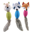 Raccoon Soft Squeaky Sound Animal Pet Interactive Training Stuffed Toys one