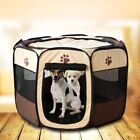 Portable Dog Play Pen Small Puppy Dog Cat Pet Tent Travel Garden Bed 8 Panel UK