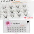 Flare Individual Eye Lashes Extension Natural Volume Mink Fur False Eyealshes