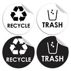 1/4PCS Recycle Sticker Organize Trash Garbage Containers Eco-Friendly Home Decor