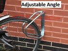 Bicycle cycle adjustable angle wall mounted security parking stand rack rail