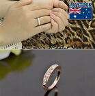 Classic 18k White/rose Gold Plated Clear Paved Cz Crystal Wedding Ring