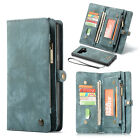 Samsung Note 9 8 S9 S8 Plus Removable Magnetic Leather Cards Wallet Case Cover