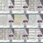 Frosted Floral Sliding Glass Door Window Film Sticker Bedroom Privacy Home Decor